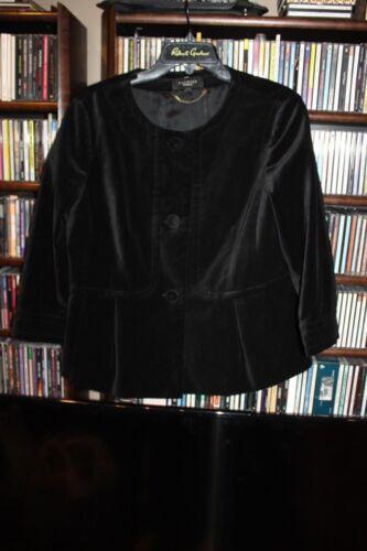 Talbots Black Velvet Blazer Jacket Ladies sz 14  (