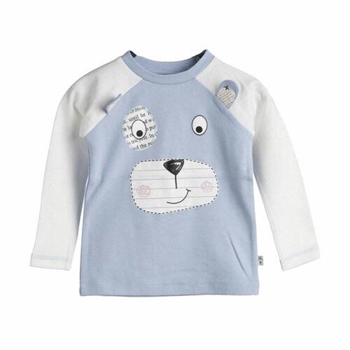 56 62 68 BLUE SEVEN ♥ Baby Jungen Langarm-Shirt mit Bärchen in hellblau ♥ Gr