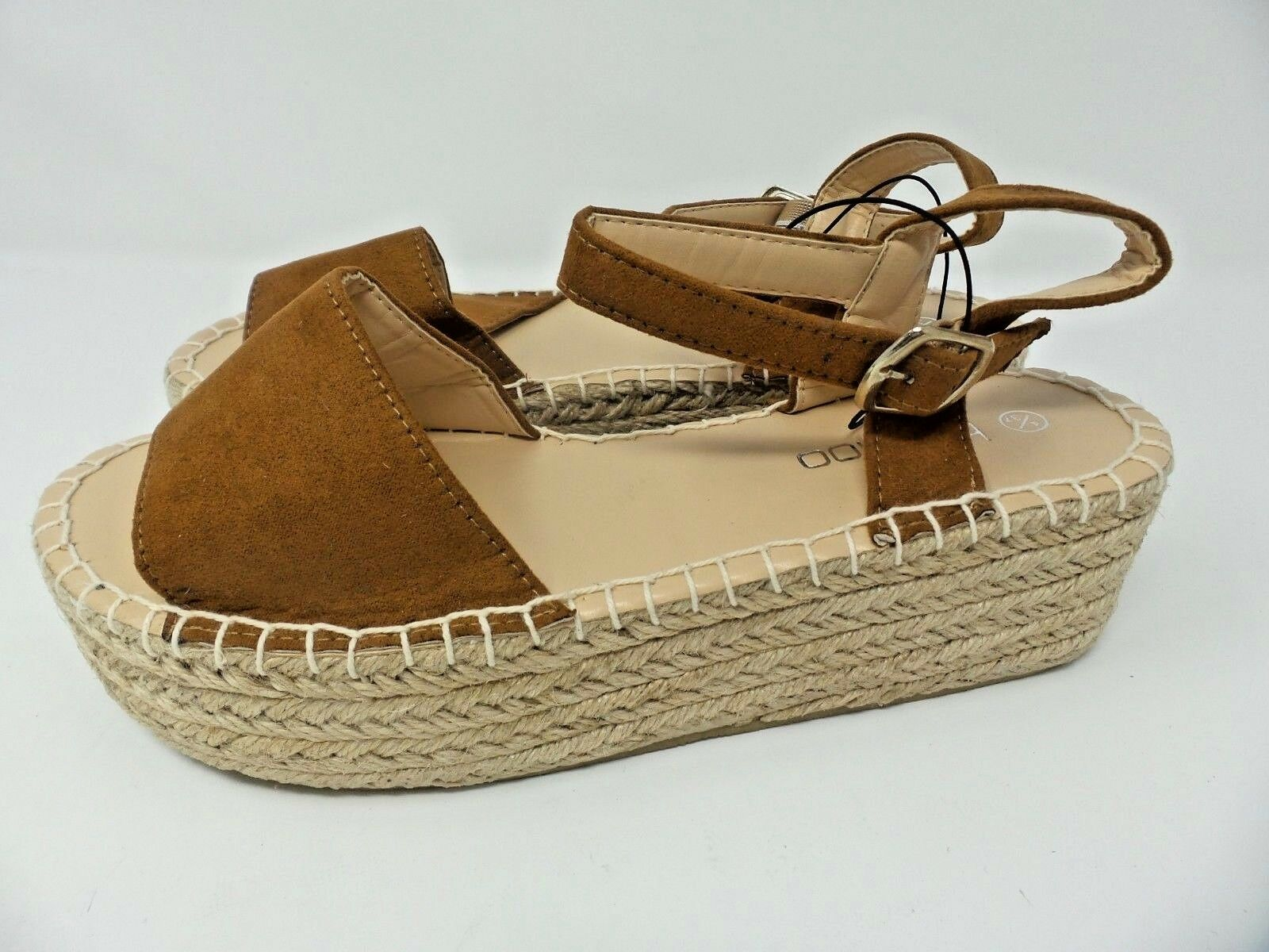 Boohoo Faith Flatform Espadrille  NEW