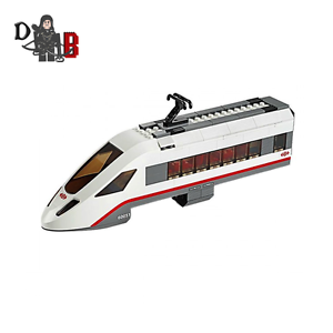 LEGO-City-High-speed-End-Train-from-60051-High-Speed-Passenger-Train-NO-WHEELS