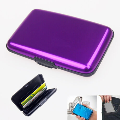 Waterproof Business ID Credit Card Wallet Holder Aluminum Metal Pocket Case IG