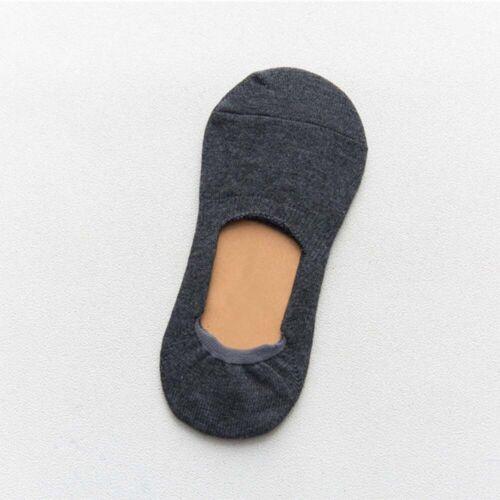 Cotton Women Invisible Socks Silicone Anti-skid Pure Color Fashion Short CA
