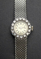 CERTINA vintage ancienne montre de dame en or blanc 18k et diamants swiss made