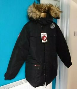 Canada-weather-gear-goose-style-Ski-Skiing-Snowboard-Men-coat-Jacket-XL-black