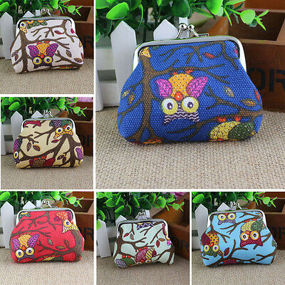 2015 Cute Womens Mini Wallet Lovely Style Lady Small Hasp Owl Purse Clutch Bag