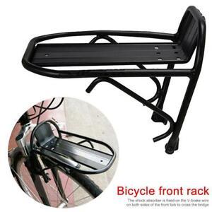 Aluminum-Alloy-Bike-Bicycle-Front-Rack-Luggage-Shelf-Carrier-Panniers-Bracket-hs