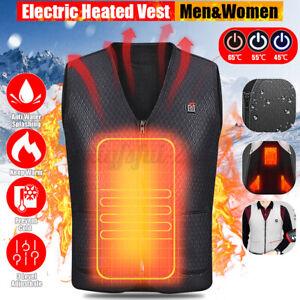 Gilet-riscaldante-elettrico-USB-riscaldato-Uomini-Giacca-termica-riscaldamento