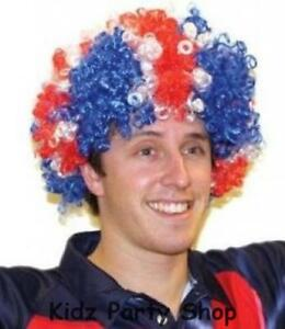 British Union Jack Party - Large Afro Wig - Red White   Blue - Free ... fd05ecc86