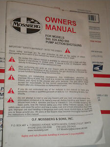 mossberg 500 535 590 and 835 model pump action shotgun owners manual rh ebay com Mossberg 590 Military Mossberg 590 Tactical Shotgun