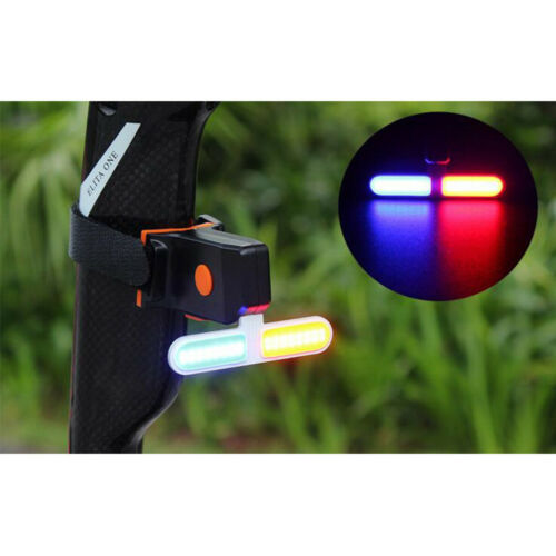 USB Recharge Bike LED Tail Light Bicycle Cycling Safety Warning Rear Flash Lamp