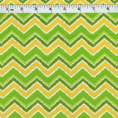 Folklore Chevron Green & Yellow Priced Per ½ Yard 11484-17 Lily Ashbury Moda