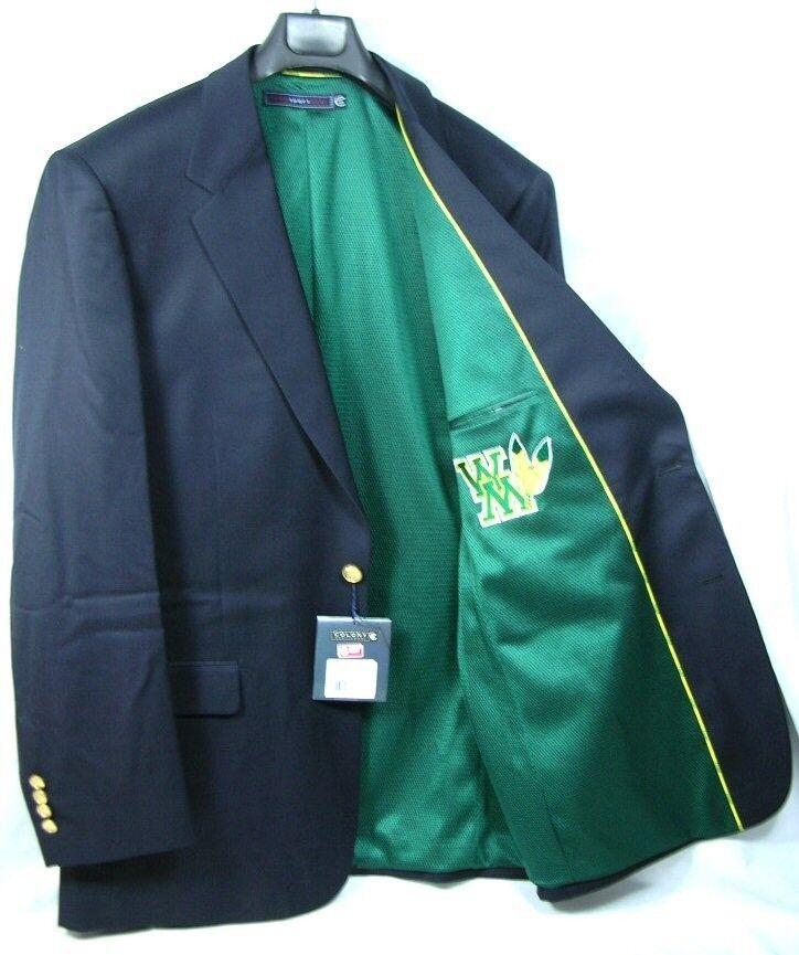 William & Mary Tribe Team Blazer Licensed Logo Sport Coat Short- Regular - Tall