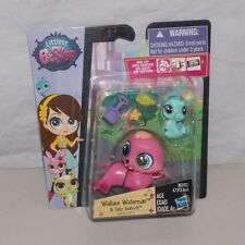 Littlest Pet Shop Wallace Waterman Walrus #3818 Sally Seaforth Seahorse #3819