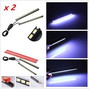 2Pcs-Ultra-Slim-Car-LED-Fog-Signal-Light-Daytime-Running-Lamp-Strip-DRL-White
