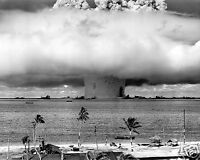 Nuclear Atomic Bomb Usa U.s. World War 2 Wwii Water Test 8 X 10 Photo Picture