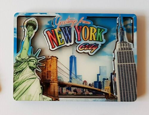 MANHATTAN Souvenir Fridge Magnets NEW YORK CITY FDNY New.