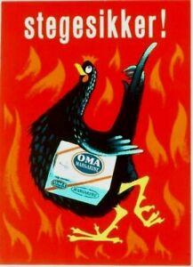 Original-vintage-poster-OMA-DANISH-MARGARINE-CHICKEN-1958