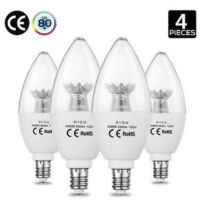 Image Is Loading Aed Lighting Candelabra Led Bulbs 60 Watt Incandescent