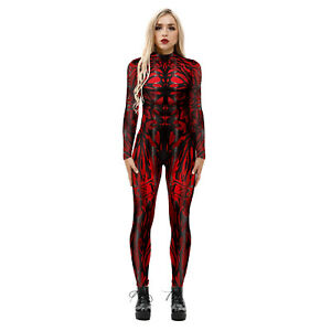 Venom 2020 Halloween Costume 2020 Venom 2 Carnage Women Jumpsuit Cosplay Costume Superhero