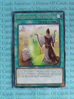 DANE-EN098 Whitefish Salvage Rare UNL Edition Mint YuGiOh Card
