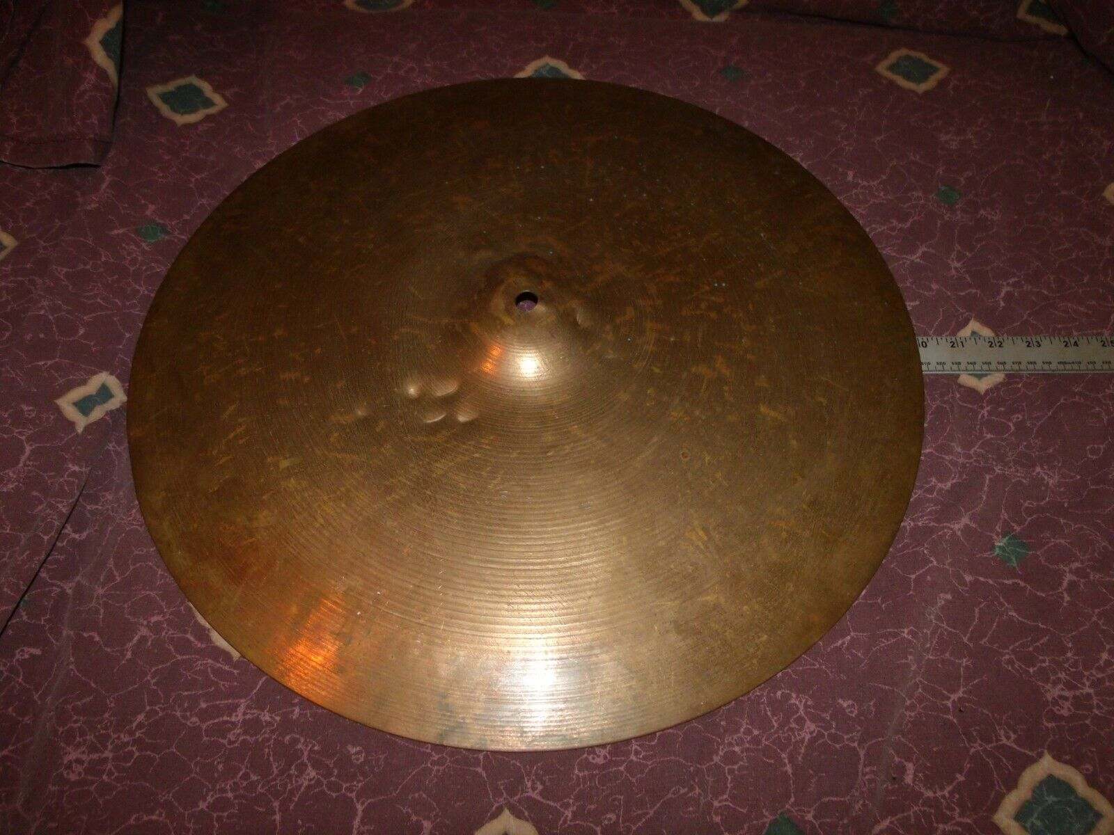 Vintage Sabian 20  Ride Cymbal approx 2600 grams well-used but solid