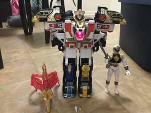 Power rangers mega tigerzord & white ranger complete