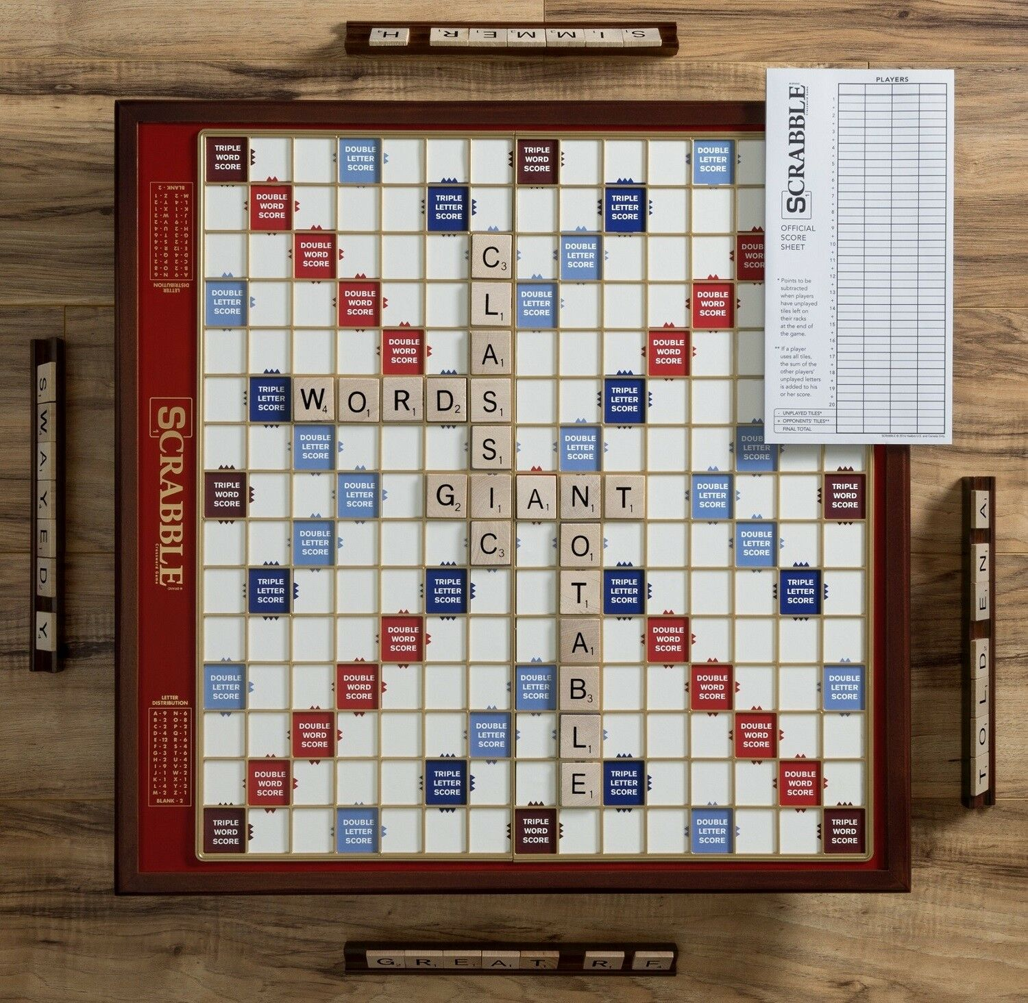 Winning Solutions Scrabble Giant Deluxe Edition Wooden Board Game NEW NEW NEW 6f05c5