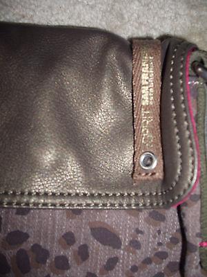 Tasche, Handtasche, Messenger, Leder, Leo-Optik, XL, Esprit, neu!