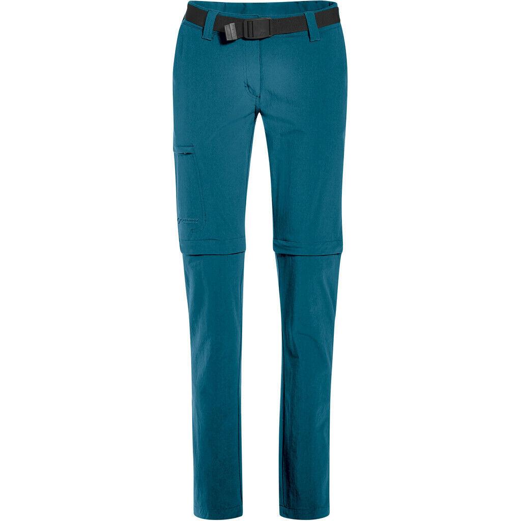 Maier Sports Inara Slim Zip-Off Hosen Damen turquoise 2019 lange hose petrol