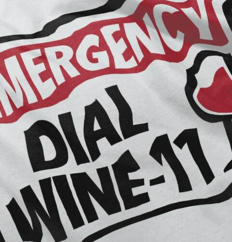 Emergency Dial Wine One 911 Funny Drinking Womens Hooded Pullover Sweatshirt