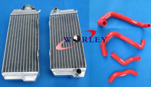 For HONDA ATC250R ATC 250 R 1985 1986 85 86 Aluminum radiator /& hose RED
