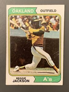 1974-Topps-130-Reggie-Jackson-VG-Oakland-Athletics-HOF