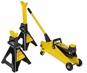 JEGS-79002-Hydraulic-Utility-Floor-Jack-amp-Stands-Heavy-Gauge-Steel-Frames