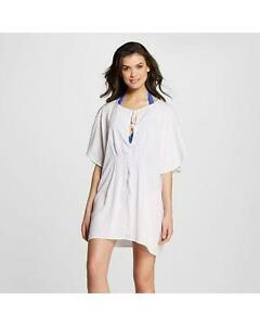 49e53a1a66403 Women's Embroidered Swimsuit Caftan Cover Up White Mar by ViX | eBay