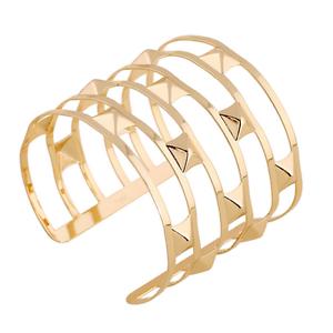Luxury-Rock-Unisex-Gold-Multilayer-Hollow-Punk-Cuff-Bangle-Wide-Bracelet-Jewelry