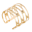 Fashion-Retro-Men-Women-Gold-Hollow-Out-Rivets-Punk-Bangle-Cuff-Wide-Bracelet thumbnail 2