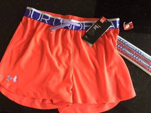 YLG//G NWT Heat Gear Shorty Under Armour Girls Shorts /& Headbands Sz