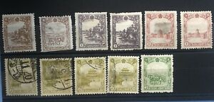 Manchukuo-China-Stamps-Collection-Fen-And-Yuan-Values