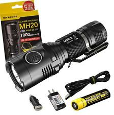 Nitecore MH20 1000 Lumens USB Rechargeable LED Flashlight w/ Nitecore 18650 Batt