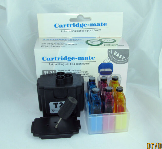 Tri-color Smart Ink Refill Kits Tools for Hp 22 75 28 93 57 93 95 Cartridges