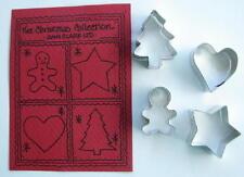 CHRISTMAS  MINI'S TIN COOKIE CUTTERS By  Ann Clark