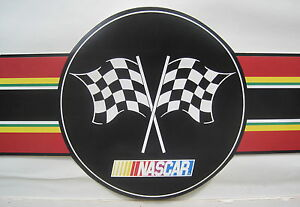 Details About Nascar Racing Logo Stock Car Wallpaper Border 8 1 2 Black