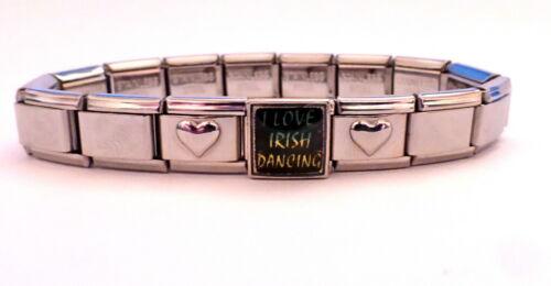 BN NEW I Love Irish Dancing Italian Charm Photo Link
