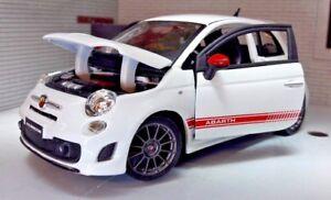 LGB-G-Echelle-1-24-Fiat-500-Abarth-Ss-Esseesse-Burago-Voiture-Miniature-Gris