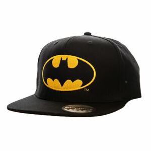 DC Comics Batman Classic Logo Snapback Cap with Yellow Logo Detail - One Size