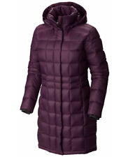 Columbia Hexbreaker Womens L Long Down Jacket Warm Hooded Winter Coat LARGE