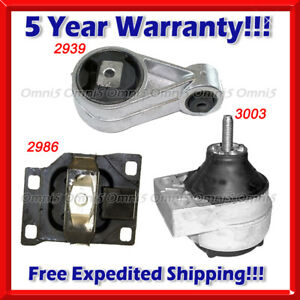 K170-Fits-00-04-FORD-FOCUS-2-0L-DOHC-Engine-amp-Trans-Mount-Set-3PCS-Except-SVT