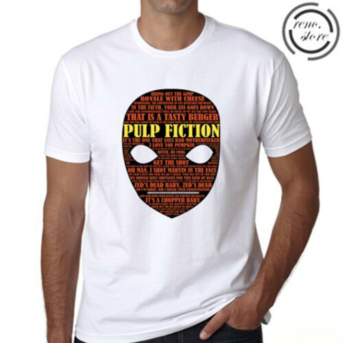 Pulp Fiction Quentin Tarantino Film Men/'s White T-Shirt Size S M L XL 2XL 3XL