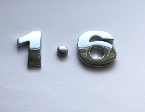 Chrome 3D auto-adhésif Voiture lettres numéro badge emblème autocollant orthographe 1.6