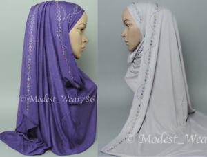 Premium-Cotton-Jersey-Hijab-Scarf-Islam-Muslim-Headcover-180X60-cm